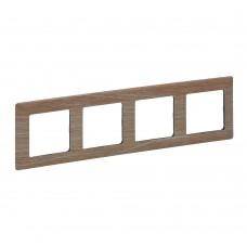 4rámik drevo svetlé Legrand Valena Life 754184