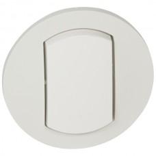 biela krytka Legrand Céliane 67801 IP44 pre vypínač č.1,6 a tlačidlo