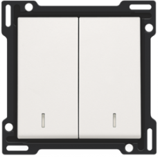 white krytka Niko original/intense 101-61507 pre podsvietený vypínač č.5, 5B a dvojtlačidlo