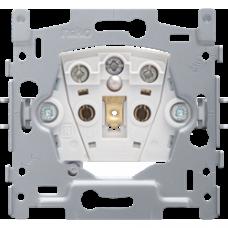 zásuvka s LED jantárovou kontrolkou napätia a detskými clonkami Niko 170-33107 spodok