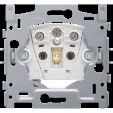 zásuvka s LED jantárovou kontrolkou napätia a detskými clonkami Niko 170-33112 spodok