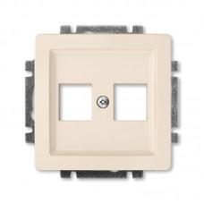 krémová krytka dátovej zásuvky priama ABB Swing 5014G-A02018 C1