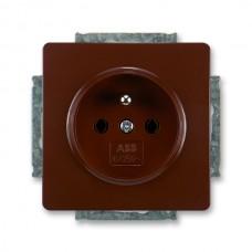 zásuvka ABB Swing 5518G-A02349 H1 hnedá