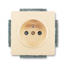 zásuvka s clonkami ABB Swing 5518G-A02359 C1 krémová