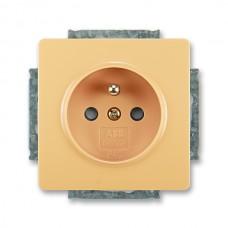 zásuvka s clonkami ABB Swing 5518G-A02359 D1 béžová