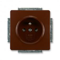 zásuvka s clonkami ABB Swing 5518G-A02359 H1 hnedá