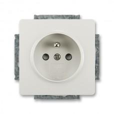 zásuvka s clonkami ABB Swing 5518G-A02359 S1 svetlo šedá