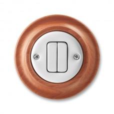 vypínač č.5 ABB Decento biely/čerešňa 3559K-C05345 52 kompletný