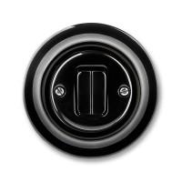 vypínač č.5 ABB Decento čierny 3559K-C05345 N keramický kompletný
