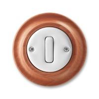 vypínač č.6 ABB Decento biely/čerešňa 3559K-C06345 52 kompletný