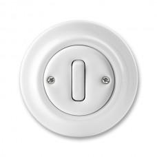 vypínač č.6 ABB Decento biely 3559K-C06345 keramický kompletný