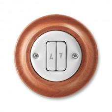 žalúziový ovládač ABB Decento biely/čerešňa 3559K-C88345 52 kompletný