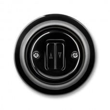 žalúziový ovládač ABB Decento čierny 3559K-C88345 N keramický kompletný