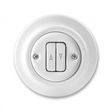 žalúziový ovládač ABB Decento biely 3559K-C88345 keramický kompletný