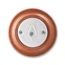 vypínač otočný č.6 ABB Decento biely/čerešňa 3560K-C06345 52 kompletný