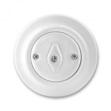 vypínač otočný č.6 ABB Decento biely 3560K-C06345 keramický kompletný