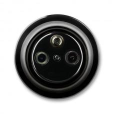 satelitná zásuvka ABB Decento čierna 5011K-C00403 N keramická kompletná
