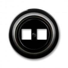 dátová zásuvka ABB Decento čierna 5014K-C01018 N bez keystonov