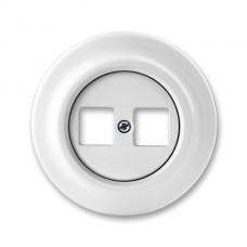 dátová zásuvka ABB Decento biela 5014K-C01018 keramická bez keystonov