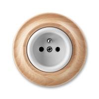 zásuvka ABB Decento biela/prírodný buk 5519K-C02347 50 kompletná