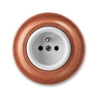 zásuvka ABB Decento biela/čerešňa 5519K-C02347 52 kompletná