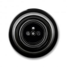 zásuvka ABB Decento čierna 5519K-C02347 N keramická kompletná