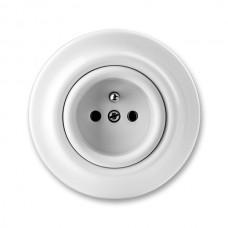 zásuvka ABB Decento biela 5519K-C02347 keramická kompletná