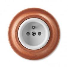 zásuvka ABB Decento s clonkami biela/čerešňa 5519K-C02357 52 s plastovou dutinou kompletná