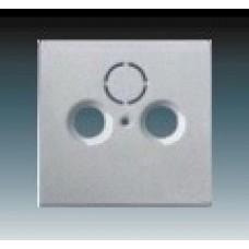 hliníková strieborná krytka kovová ABB Future linear 1724-0-4262 pre SAT a TV zásuvky