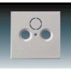 ušľachtilá oceľ krytka kovová ABB Future linear 1724-0-4271 pre SAT a TV zásuvky