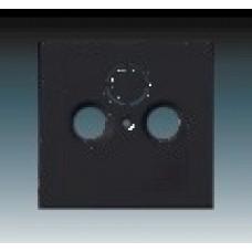 machová čierna krytka ABB Future linear 1724-0-4298 pre SAT a TV zásuvky