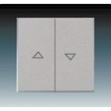 ušľachtilá oceľ krytka kovová ABB Future linear 1751-0-2964 pre žalúziové ovládače