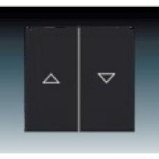 machová čierna krytka ABB Future linear 1751-0-3036 pre žalúziové ovládače