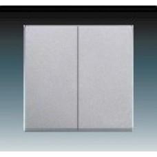 hliníková strieborná krytka kovová ABB Future linear 3559B-A0065283 pre vypínače č. 5 a 5b