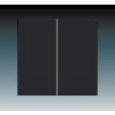 machová čierna krytka ABB Future linear 3559B-A00652885 pre vypínače č. 5 a 5b