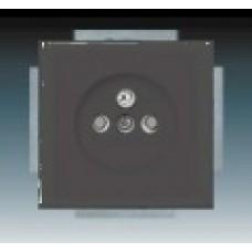 antracitová zásuvka ABB Future linear 5519B-A0235781 s clonkami