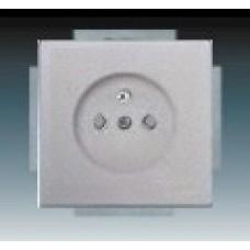 hliníková strieborná zásuvka ABB Future linear 5519B-A0235783 s clonkami