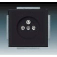 machová čierna zásuvka ABB Future linear 5519B-A02357885 s clonkami