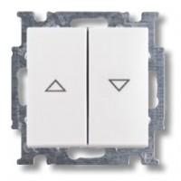 žalúziový spínač ABB Basic55 1012-0-2140 biely s mechanickým blokovaním