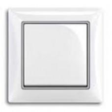 dekoratívny medzirámik ABB Basic55 1726-0-0223 strieborný