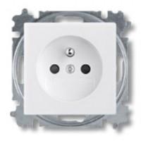 zásuvka ABB Basic55 5521B-A0235794 biela s clonkami