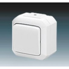 vypínač č.1 IP54 biely ABB Variant+ 3558N-C01510 B na povrch