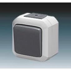 vypínač č.1 IP54 šedý ABB Variant+ 3558N-C01510 S na povrch