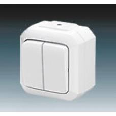 vypínač č.5 IP54 biely ABB Variant+ 3558N-C05510 B na povrch