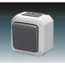 vypínač č.5 IP54 šedý ABB Variant+ 3558N-C05510 S na povrch
