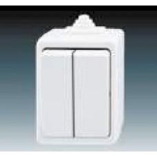 vypínač č.5 IP44 biely ABB Praktik 3553-05929 B na povrch
