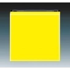 žltá/dymová čierna krytka ABB Levit 3559H-A00651 64 pre vypínače č.1,6,7 a tlačidlo