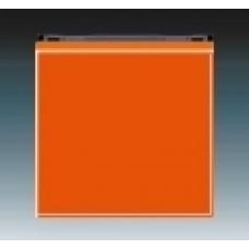 oranžová/dymová čierna krytka ABB Levit 3559H-A00651 66 pre vypínače č.1,6,7 a tlačidlo