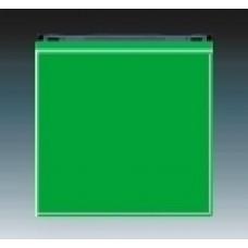 zelená/dymová čierna krytka ABB Levit 3559H-A00651 67 pre vypínače č.1,6,7 a tlačidlo