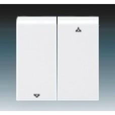 biela krytka s potlačou ABB Levit 3559H-A00662 03 pre žalúziový spínač